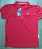 Ladies Polo T shirt horse riding Equestrian Hot Pink NEW Rockfish Riders NEW