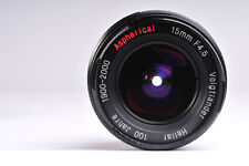Voigtlander Heliar Aspherical 15mm f/4.5 Lens 100 Jahre Edition M39 Screw Mount
