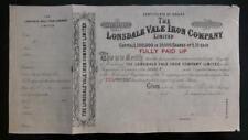 UK England Londsdale Vale Iron Cleveland East Yorkshire 1860 specimen share 10P