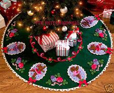 """Bucilla Ballet Bears ~ 42"""" Felt Christmas Tree Skirt Kit #86151 Dancing 2008"""