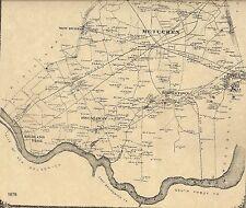 Metuchen Edison Highland Park Menlo Park  NJ 1876 Maps w/ Homeowners Names Shown