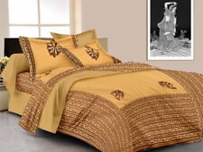 Handmade Traditional Rajasthanit King Size Bed Sheet With 2 Pillow Covers Set