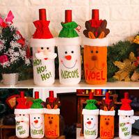 Christmas Santa Wine Bottle Gift Bag Ornaments Cover Xmas Home Party Decor