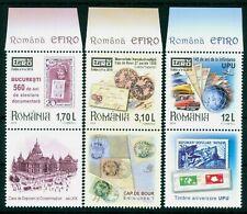 2019 EFIRO,Bicycle,Prince Vlad/Dracula,CEC/Horse tram,UPU,car,Romania,TAB/B1,MNH