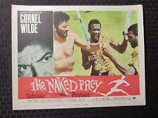 "1965 THE NAKED PREY Original 14x11"" Lobby Card VG/VG+ LOT of 3 Cornel Wilde"