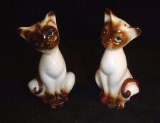 Pr Vtg Bone China Siamese Kittens Kitty Cats Salt & Pepper Shakers