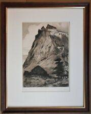 Stirling Castle. Signed Etching by listed Scottish artist Louis Whirter, c1910