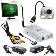 Hot Micro 1.2GHZ Wireless A/V Audio Video Camera With Tansmitter Receiver Sets