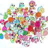 50pcs Button Cartoon Buttons Wooden Mixed Scrapbooking Animal Handmade Owl