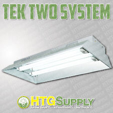 "2' T5 Fluorescent Grow Light 110 watt Tek Floro w Veg bulbs 24"" hydroponic cfl"