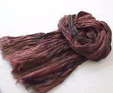 Schal Herren, pflegeleicht, in warmen braunen und dunkelroten Farbtönen, Crinkle