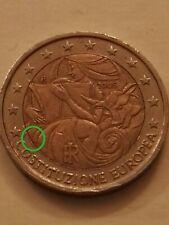 Moneta 2 euro COSTITUZIONE EUROPEA 2005 RI errore defect firma incisore italia