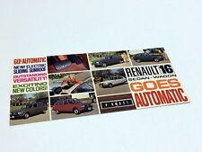 1970 Renault 16 Sedan Wagon Preview Brochure