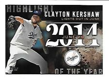 CLAYTON KERSHAW   2015 TOPPS HIGHLIGHT OF THE YEAR #H-60