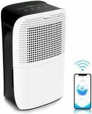 Vacplus 50 Pints Dehumidifier with WiFi Remote for Large Rooms, Large  (1901)