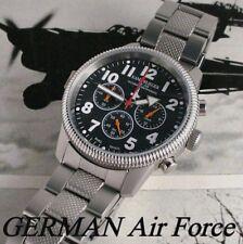NEW GERMAN AIR FORCE LUFTWAFFE COMBAT PILOT CHRONOGRAPH - 24 HOUR REGISTER