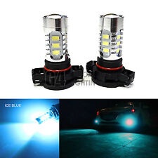 2x H16 5202 LED Fog Light Bulbs 15W SMD 5730 12V High Power Bright DRL Ice Blue