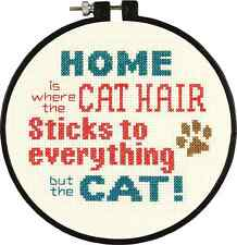 Counted Cross Stitch Kit PET HAIR Cat Dimensions