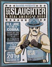 Hasbro G.I. GI Joe SDCC Comic-Con Exclusive Sgt Slaughter Promo Poster 9 x 12!