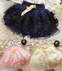Toddler Baby Girls Princess Floral Mini Dress Kid Tutu Party Dress Short Skirt