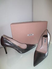 MIU MIU by PRADA Damen Pumps Gr.40,5 CRACLE Schuhe High Heels Leder neu
