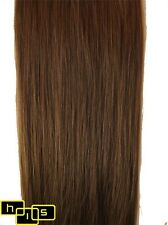 "20"" CLIP IN REMY HUMAN HAIR EXTENSIONS MED BROWN #6"