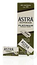 Astra Superior Platinum Double Edge (DE) Razorblade - 100 Blades (20 packs)