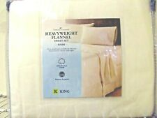 Home Classics Heavyweight King Ivory Flannel Sheet Set 100 % Brushed Cotton