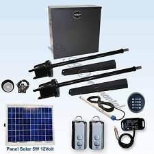 Apollo 1600 Gate Opener Kit 6 Solar Slide & Swing Automatic Residential Operator
