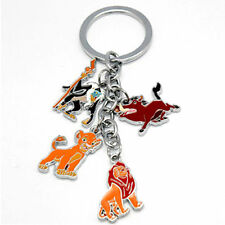 The Lion King Simba Pumbaa Rafiki Nala Figure Toy Charms Metal Keychain Keyring