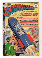 Superman #146, VG/F, July 1961, DC, Superman's life story, classic cover