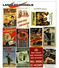 More details for ww2 posters paper copy enamel signs smf32 colour oo scale models decals 1/76