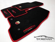 TAPPETINI FIAT 500 ABARTH DAL 2010 BORDI PERSONALIZZABILI NO ORIGINALI 0028