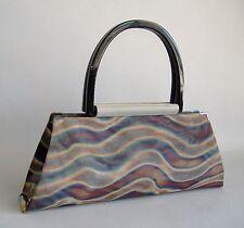 Amelia Long Antelope Handbag Plum Purse Handmade Wire Mesh Bag Black New Gift