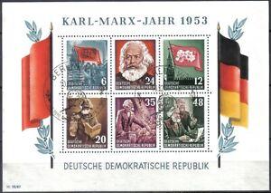 DDR Block 8 A YI Marx-Block  mit Ersttagsstempel, geprüft Schönherr