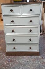2 over 4 cream/white solid pine chest of drawers/made to measure/farrow and ball