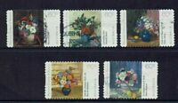 AUSTRALIA DECIMAL.... 2011 NATIONAL GALLERY  , FLOWERS....SET OF 5...GOOD USED