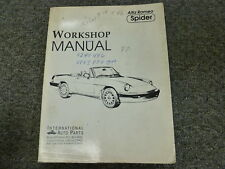 1982 1983 1984 1985 1989 Alfa Romeo Spider Convertible Service Repair Manual