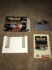 Super Nintendo WWE Royal Rumble With Box, Manual, And Dustcover