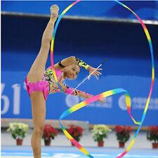 4m Kids Dance Ribbon  Gym Rhythmic Art Gymnastic Ballet Streamers Twirling Ro 2Y