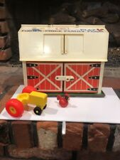 Vintage 1967 Fisher Price Play Family Farm Barn Accessories