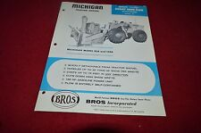 Michigan 85A 125A Tractor Loader Rotary Snow Plow Blower Dealer Brochure AMIL12