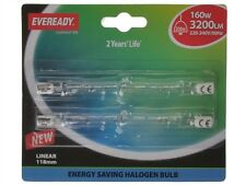 EVEREADY S5161 118mm LINEAR ECO HALOGEN BULB 240v 160w (200w) Card of 2