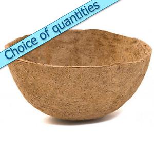 "16"" (40cm) Bowl Shaped Coconut Fibre Hanging Basket Liners - Multi Buy Discounts"