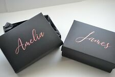 Personalised Gift Box with Name in Rose Gold Holographic Vinyl