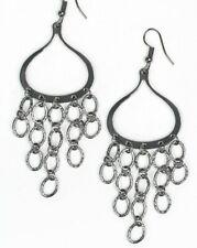 Paparazzi Jewelry ~ Total Net Revenue ~ Black Gunmetal Chandelier Earrings ~ New