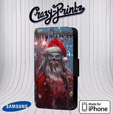 Merry Christmas Zombie Claus fits iPhone / Samsung Leather Flip Case Cover V112
