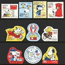 Japan 2017 82y Snoopy and Letters set of 10 Fine Used
