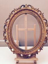 Magnifique cadre ancien Ovale Doré 68x58cm Intérieur 49x39cm