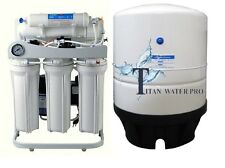 RO Light Commercial Reverse Osmosis Water Filter System150 GPD- Booster Pump-PG